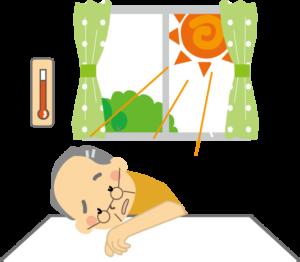 熱中症の高齢者(親の見守り)